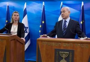 2013_Koenig_Mogherini_Netanyahu