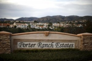 Porter Ranch homes are seen near the site of the Aliso Canyon storage field where gas has been leaking in Porter Ranch